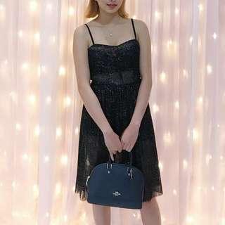 H&M Sparkley Black see through dress