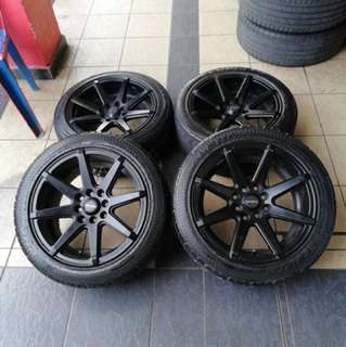 Work kaholic 15 inch sports rim saga flx tyre 70% . Be the best worker in the workplace brother!!!