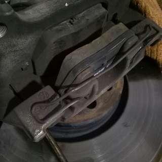 Vw mk6 jetta original size rotor and brake pad