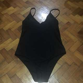 Black One-Piece Swimsuit