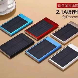 新款超薄ah毫安薄米太陽能充電寶手機移動電源