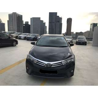 Toyota Altis 2016 model for lease from $49* per day