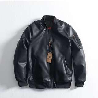 FRANK'S日本直送-2017-2018 頂級PU 皮衣夾克 加厚 鋪棉 原創 復古 重機外套 棒球夾克 功能性佳
