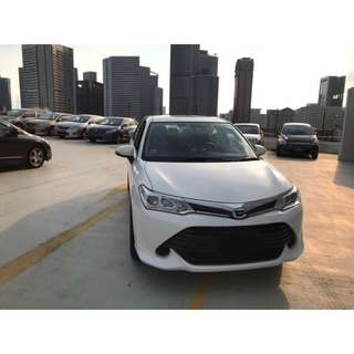 Toyota Axio 2016 model for lease from $47* per day