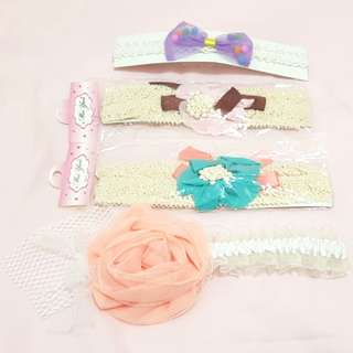 嬰幼兒蕾絲花髮帶組(4條組)#一百元好物