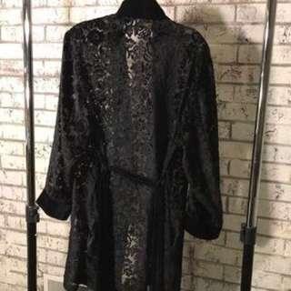 Victoria secret velvet floral robe