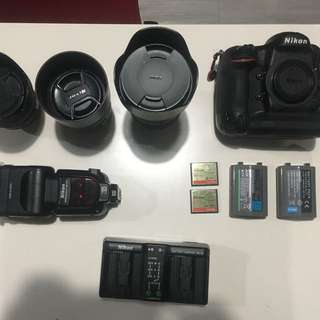 Nikon D4 With 3 Lenses and accessories SUPER SALE!!!