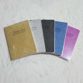 Small Glittered Diary Lined Notebook