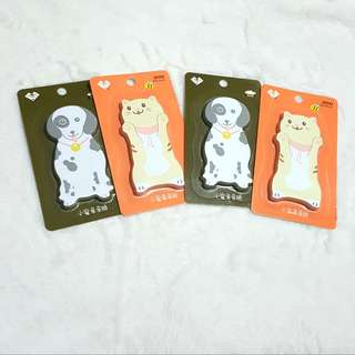 Cat and Dog Sticky Notes