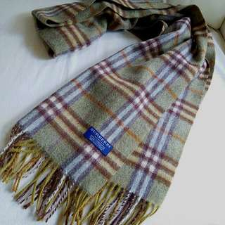 100%Cashmere Burberry Vintage Scarf