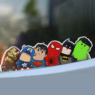 Superhero decal