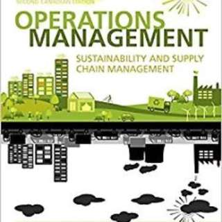 Operations management second Canadian edition