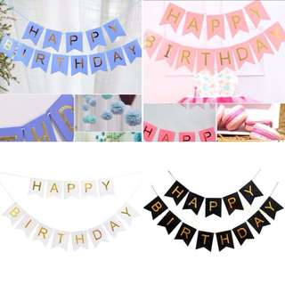 Happy Birthday Banner Party Bunting Decoration
