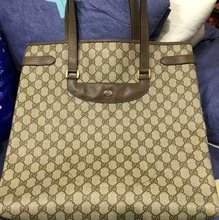 Vintage Gucci Accessory Collection XL shopper Tote bag