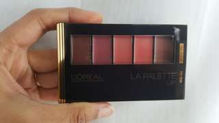 Loreal lip palette