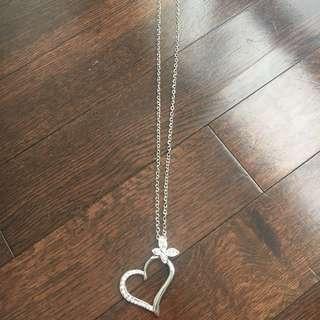 Women's heart necklace