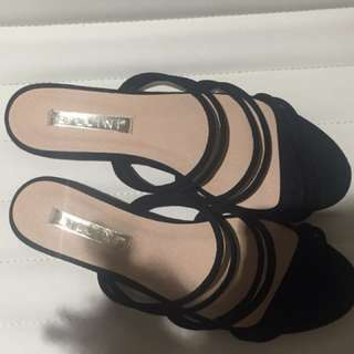Billini black slide sandals
