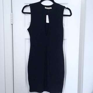Mendocino Body con dress with open front detail