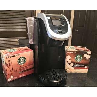 Remove  Keurig 2.0 K250 Pod Brew Coffee Maker ~ Black/Silver ~ Like Brand New!