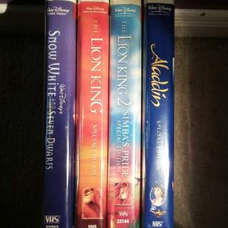 Walt Disney Platium/Special Edition VHS Tapes