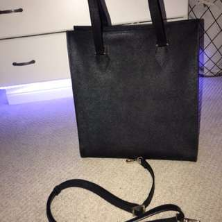 Danier Leather tote, black