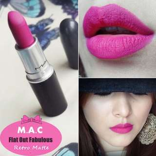 MAC Lipstick 💄 Retro Matte Flat Out Fabulous