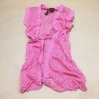 Pink Knitted Coverup