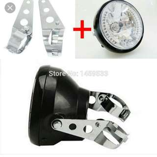 Round lamp\lampu bulat Cafe Racer
