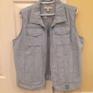 Light blue half sleeve jacket