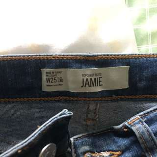 Topshop Moto Jamie Ripped Jean