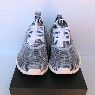 Adidas NMD R1 PK Glitch Camo Black & White Size Womens US 7.5  BRAND NEW