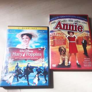 Mary Poppins & Annie Musical DVD
