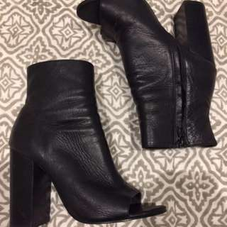 **LOOKING FOR** Tony Bianco Peep Toe Leather Boots