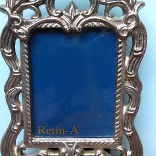 "Vintage Solid Silver Looking Metal Frame Finish Picture Frame, 2.5"" x 3-3/8"""