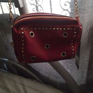 F&F red bag brand new with tag
