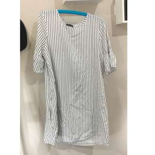 Cotton on stripe dress XL