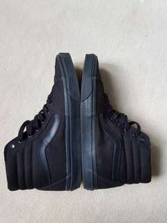 Vans All Black Mid Tops US 12