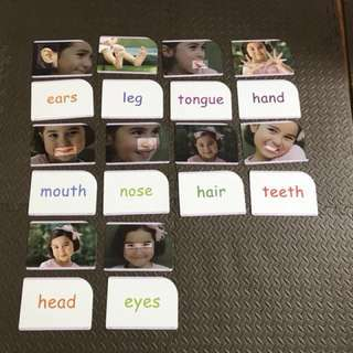 Flashcards (Body parts & Fruits)