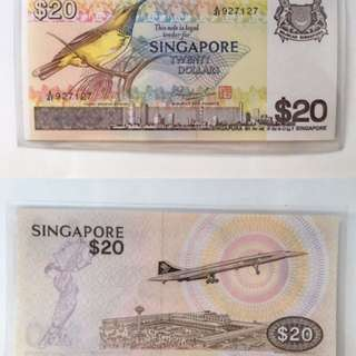 Singapore bird series $20 note