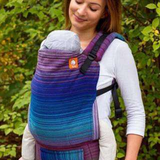 Bnwt Tula HALF TODDLER WRAP CONVERSION CARRIER - STEWED RHUBARB WITCHCRAFT ROYAL BLUE WEFT