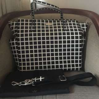 Kate Spade Laurel Way Printed Check Diaper Bag