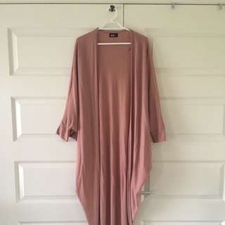 Size Small | Deep Blush Long Cardigan