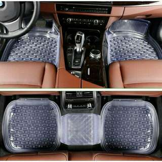 Traveholic 5pcs. Clear Car Mat
