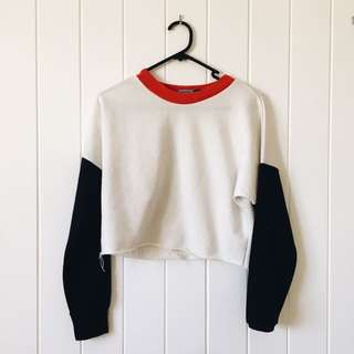 Cropped Ringer Sweartshirt