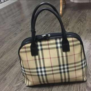 Authentic Burberry Nova Check Small Orchard Bag
