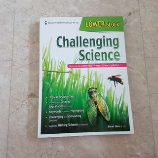 Brand new lower block Challenging Science assessment book