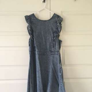 Size 12 | Sass Denim Frill Dress