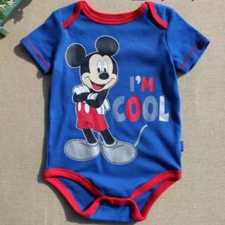 Instock Mickey Mouse Blue Romper 3 to 6m