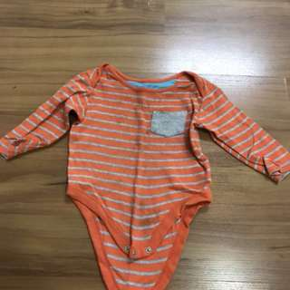 Mothercare Baby Romper orange stripes