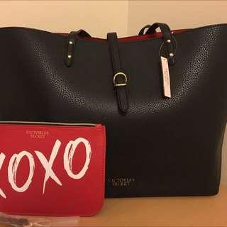 Victoria's Secret leather tote with mini purse